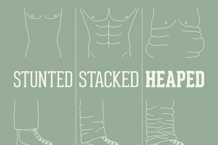 Jeans Tips: How to wear your jeans with boots and turn ups Infographic