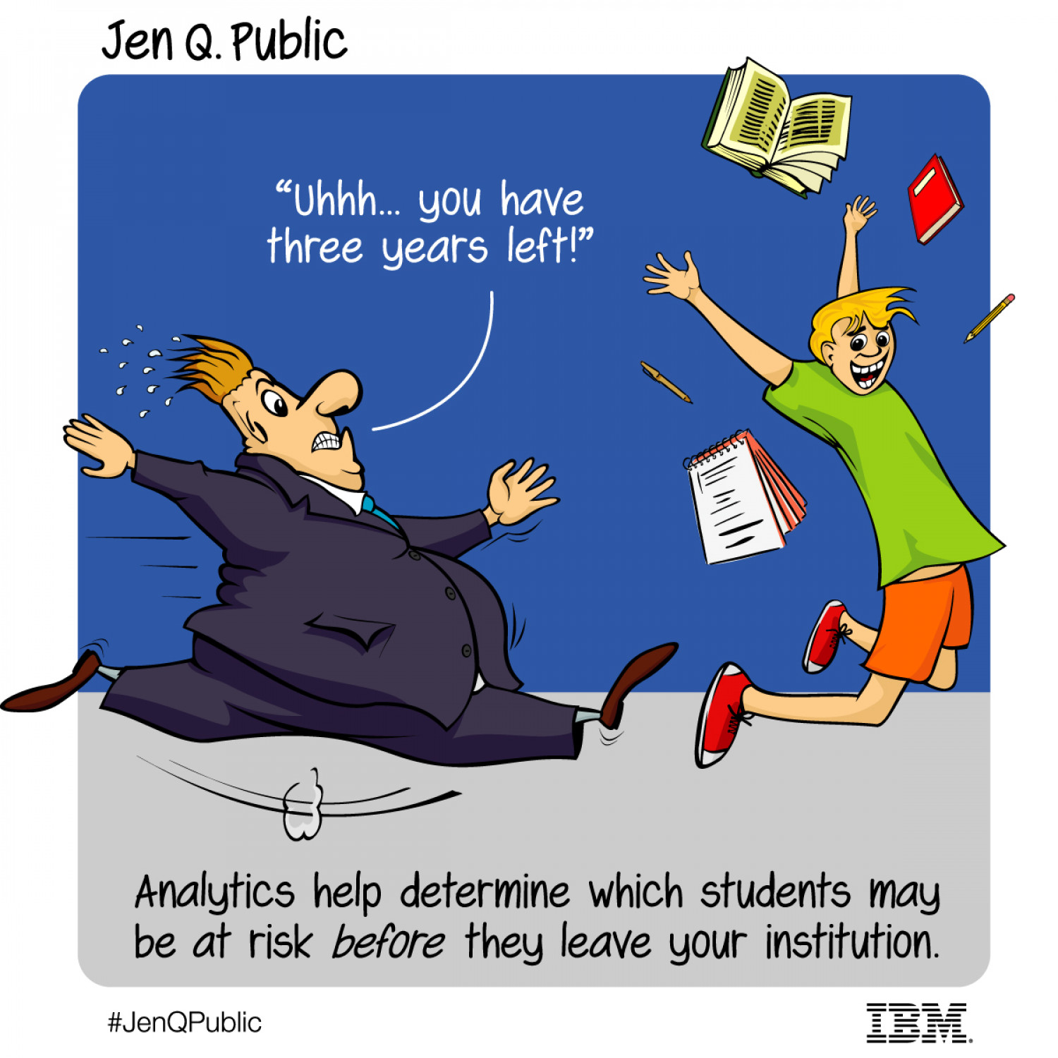 Jen Q. Public: Save our students with analytics Infographic