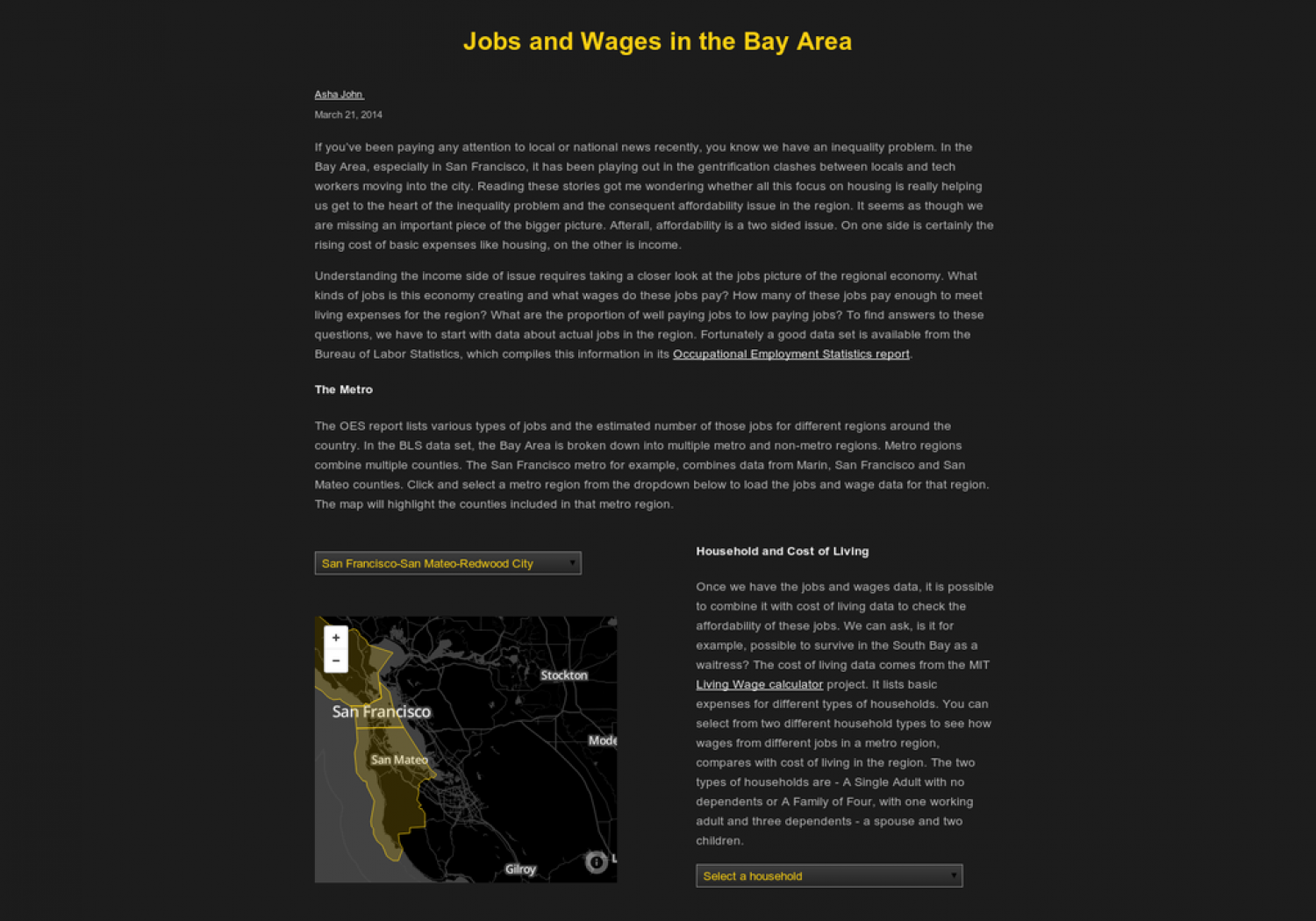 Jobs and Wages in the Bay Area Infographic