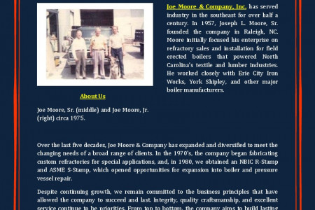 Joe Moore & Company, Inc. - About Us Infographic
