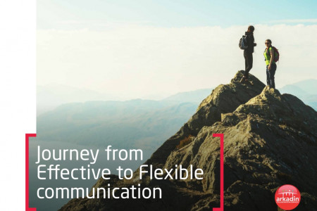 Journey from Effective to Flexible communication Infographic
