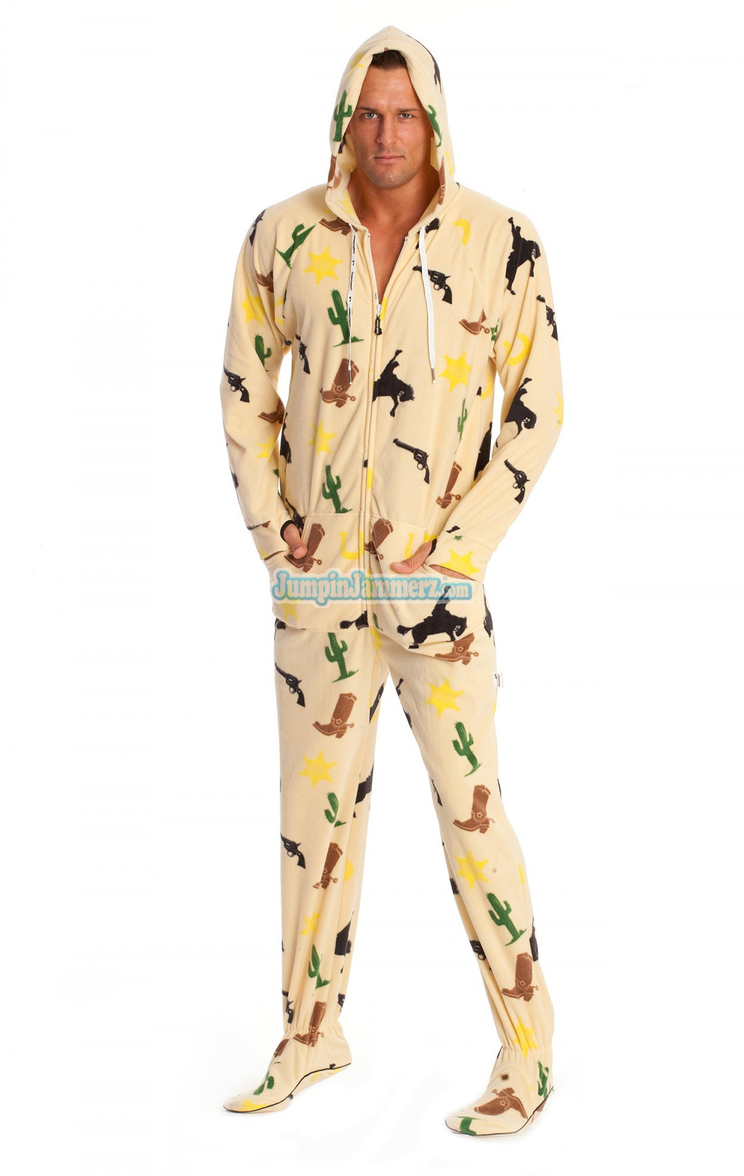 Jumpin Jammerz : mens footed pajamas | Visual.ly