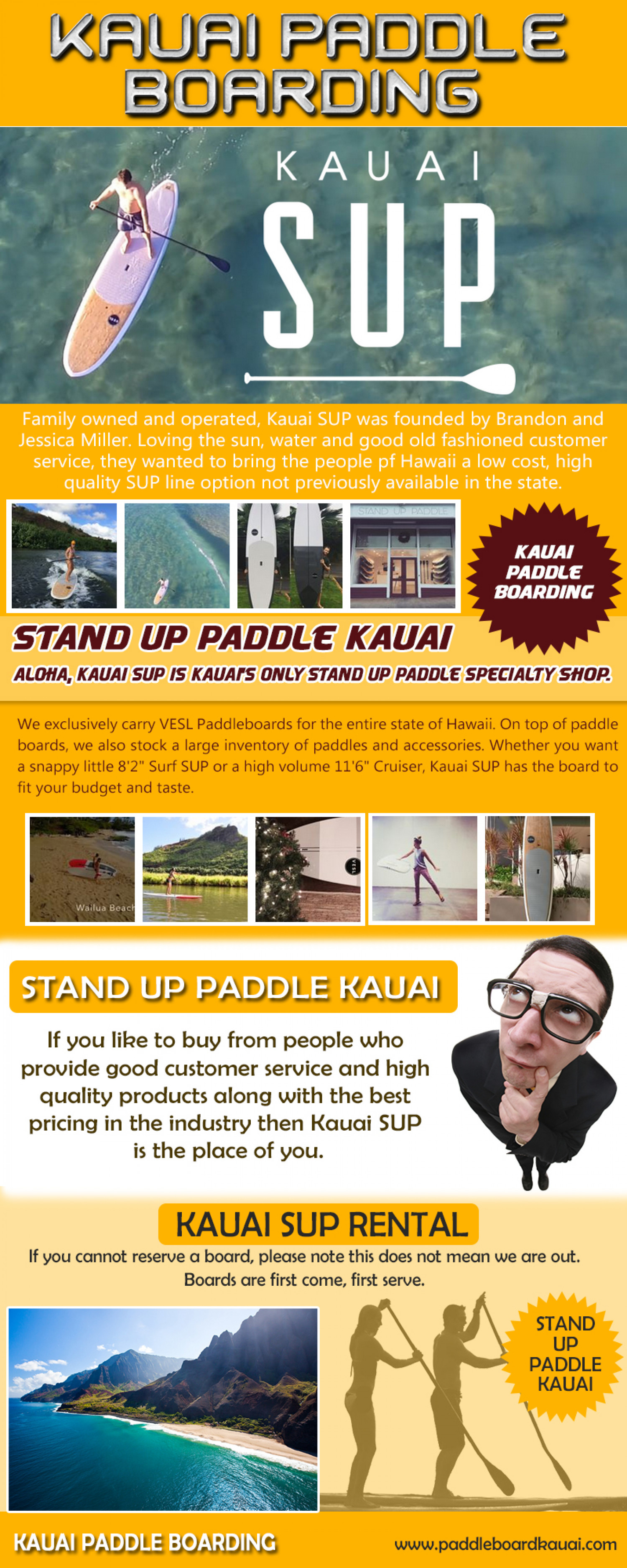 Kauai Sup Rental Infographic