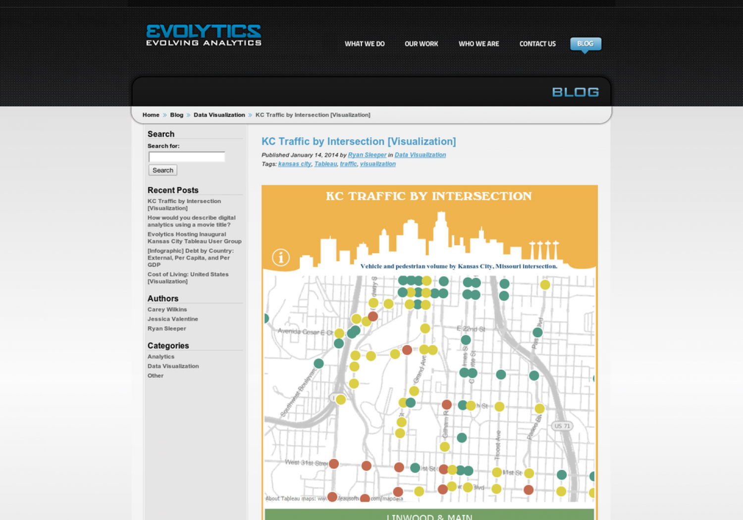 KC Traffic by Intersection Infographic