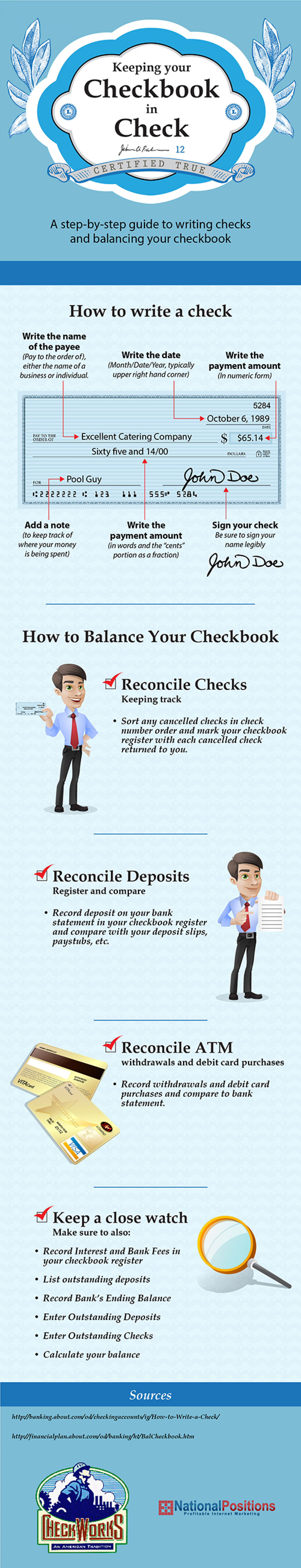 Keeping Your Checkbook in Check Infographic