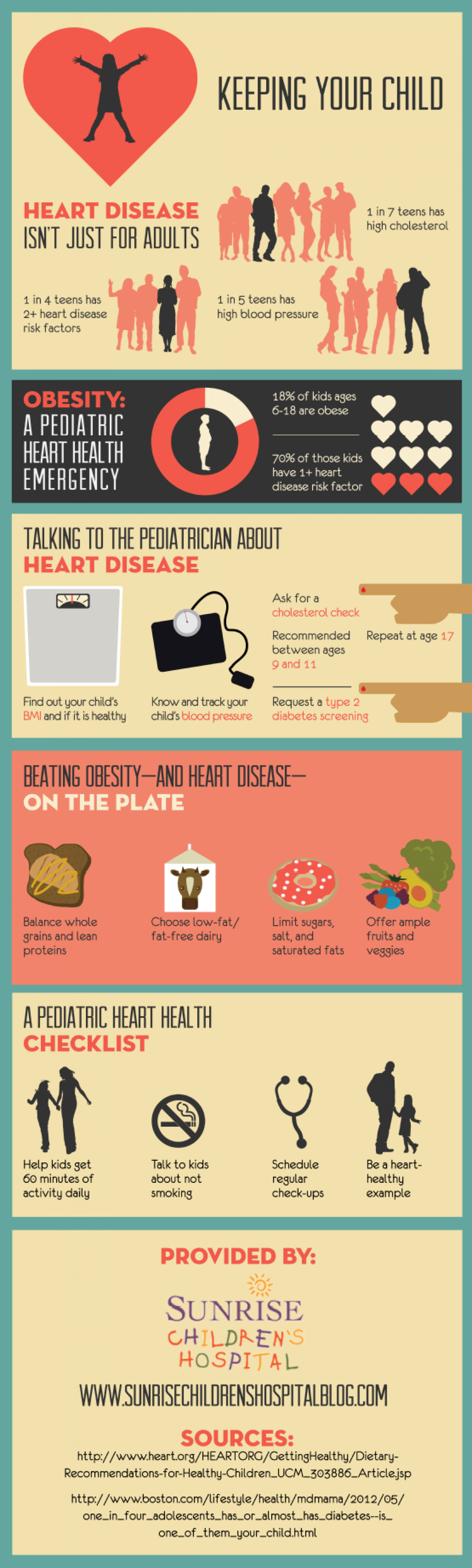 Keeping Your Child Heart Healthy  Infographic
