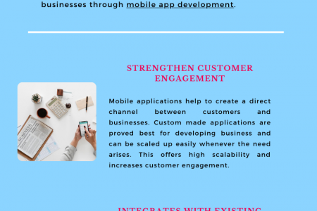 Key Benefits of Mobile Application Development To Business Infographic