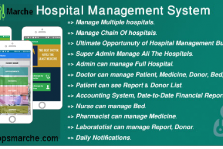 Key features of Hospital Management System form AppsMarche Infographic