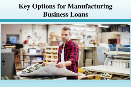 Key Options for Manufacturing Business Loans Infographic