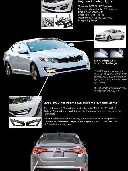 Kia Optima: LED Must Haves Infographic