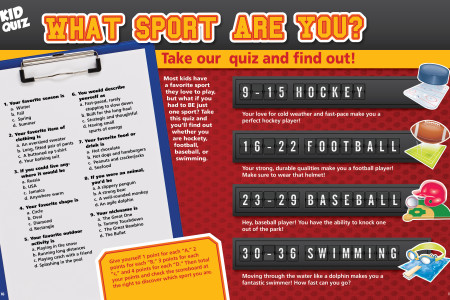 Kid Quiz What Sport are you? Infographic