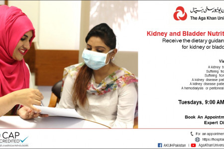 Kidney and Bladder Nutrition Clinic Infographic