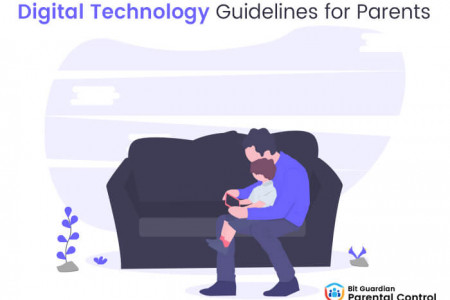 Kids and Technology: Digital Technology Guidelines For Parents Infographic