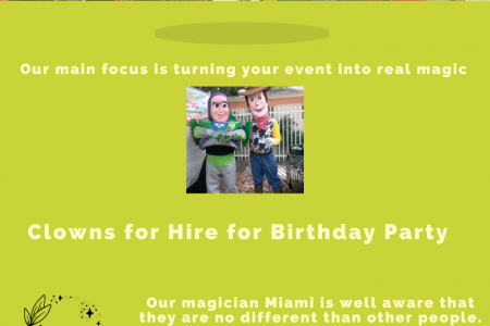 Kid's Party Entertainment Hire in Miami, FL Infographic