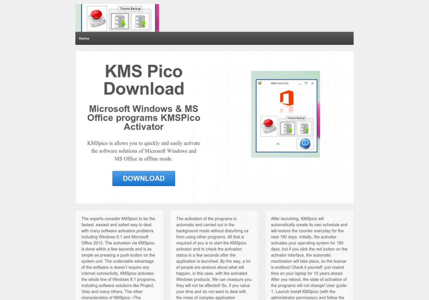 KMS pico download Infographic
