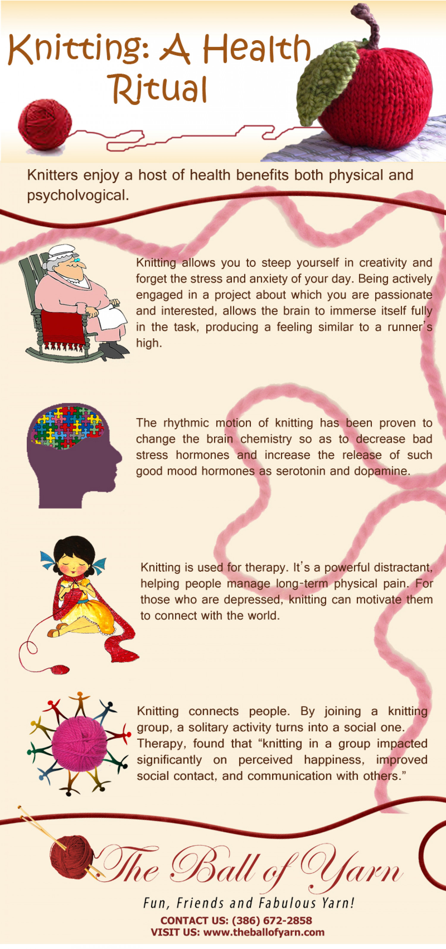 Knitting: A Health Ritual Infographic