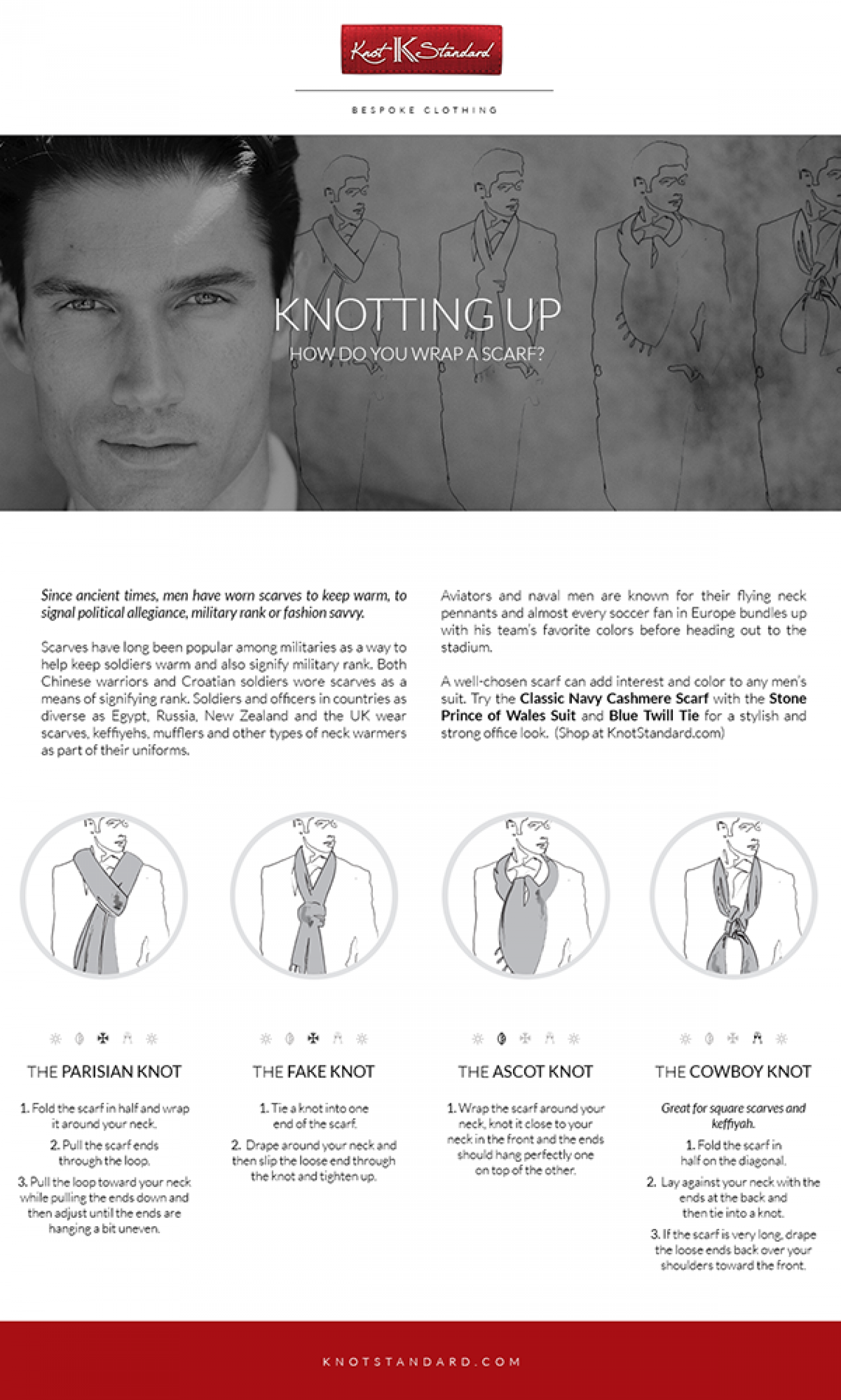 Knotting up – How do you Wrap a Scarf? Infographic