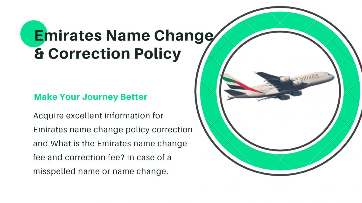 Know About Emirates Name Change Policy Infographic