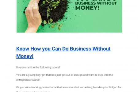 Know How you Can Do Business Without Money! Infographic