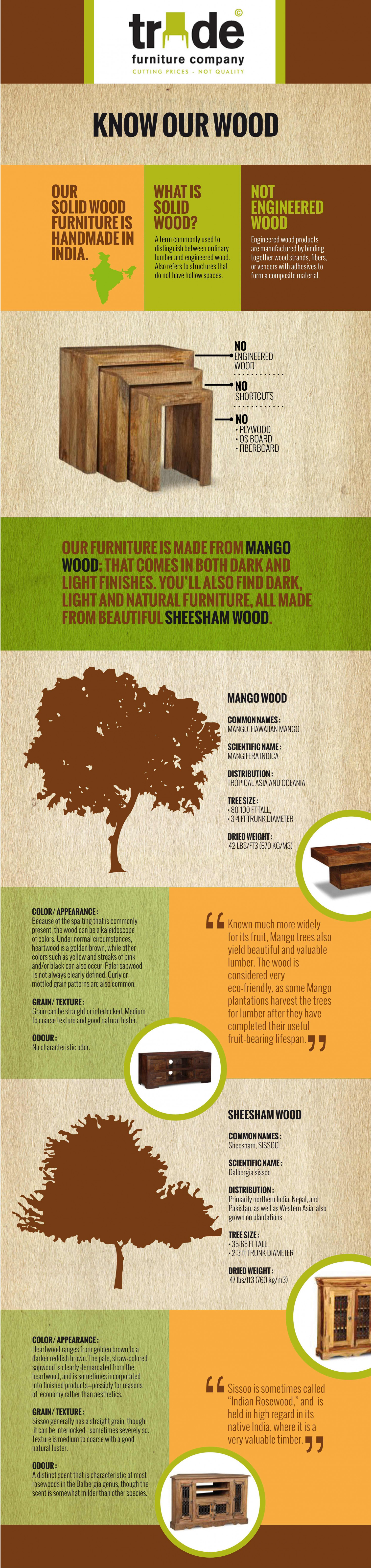 Know Our Wood - The Guide Infographic