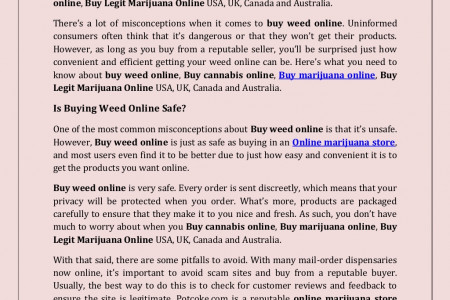 Know the Facts before Buy Weed Online USA, UK, Canada and Australia Infographic