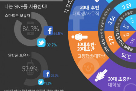 Korean SNS User Profile  Infographic