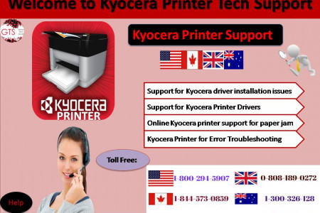Kyocera Printer Support | Call us:1-800-294-5907 Infographic