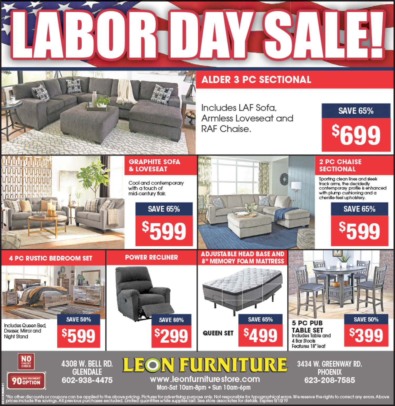 Labour Day Sale at Leon Furniture Store  Infographic