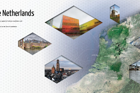 Landscape of the candidates in The Netherlands for European capitol of culture 2018  Infographic