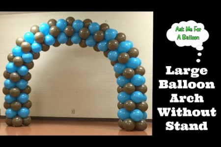 Large Balloon Arch Without Stand - Balloons Online Infographic