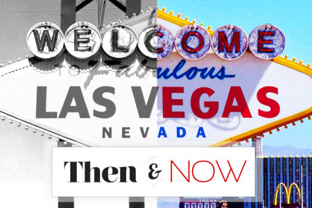 Las Vegas Then and Now Infographic
