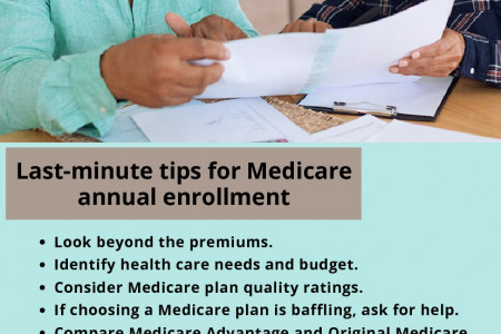 Last-minute tips for Medicare annual enrollment Infographic