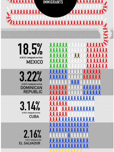 Latin American Immigrants to the US Infographic