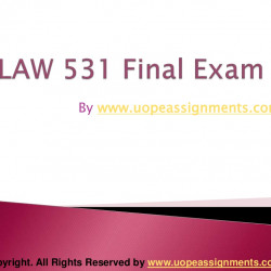 LAW 531 Final Exam UOP Complete Course Tutorial | Visual.ly