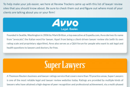 Lawyer or Legal Professional? Keep an Eye on These Lawyer Review Sites Infographic
