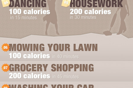 Lazy Person's Guide To Burning Calories Infographic