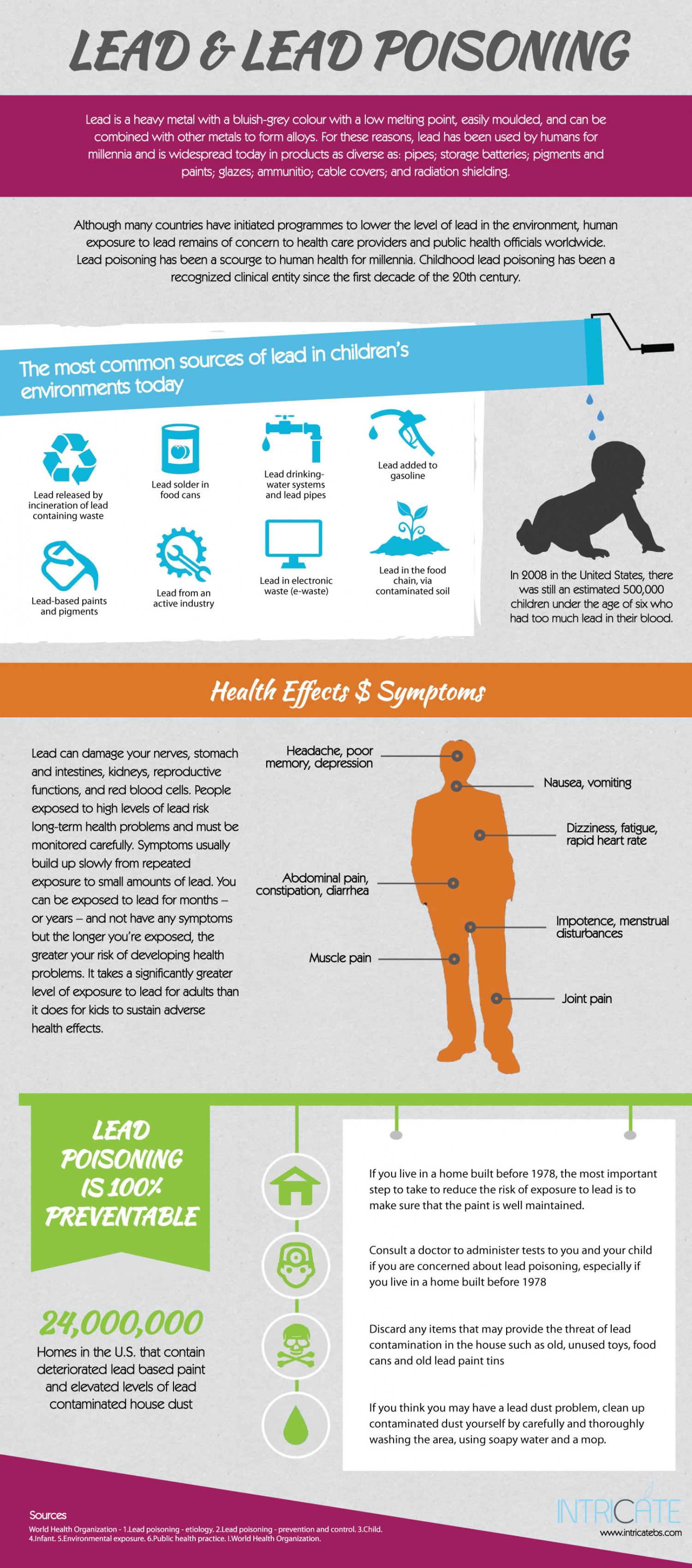 Lead and Lead Poisoning Infographic