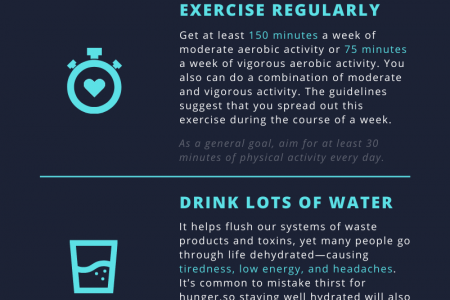 Leading a Healthy Lifestyle [Infographics] Infographic