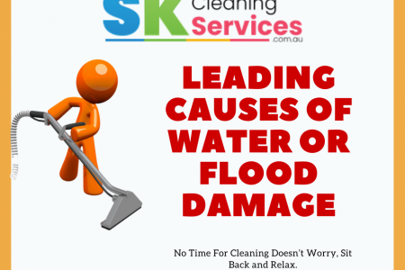 Leading Causes Of Water Or Flood Damage Infographic