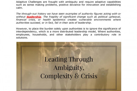 Leading Through Ambiguity, Complexity & Crisis Infographic