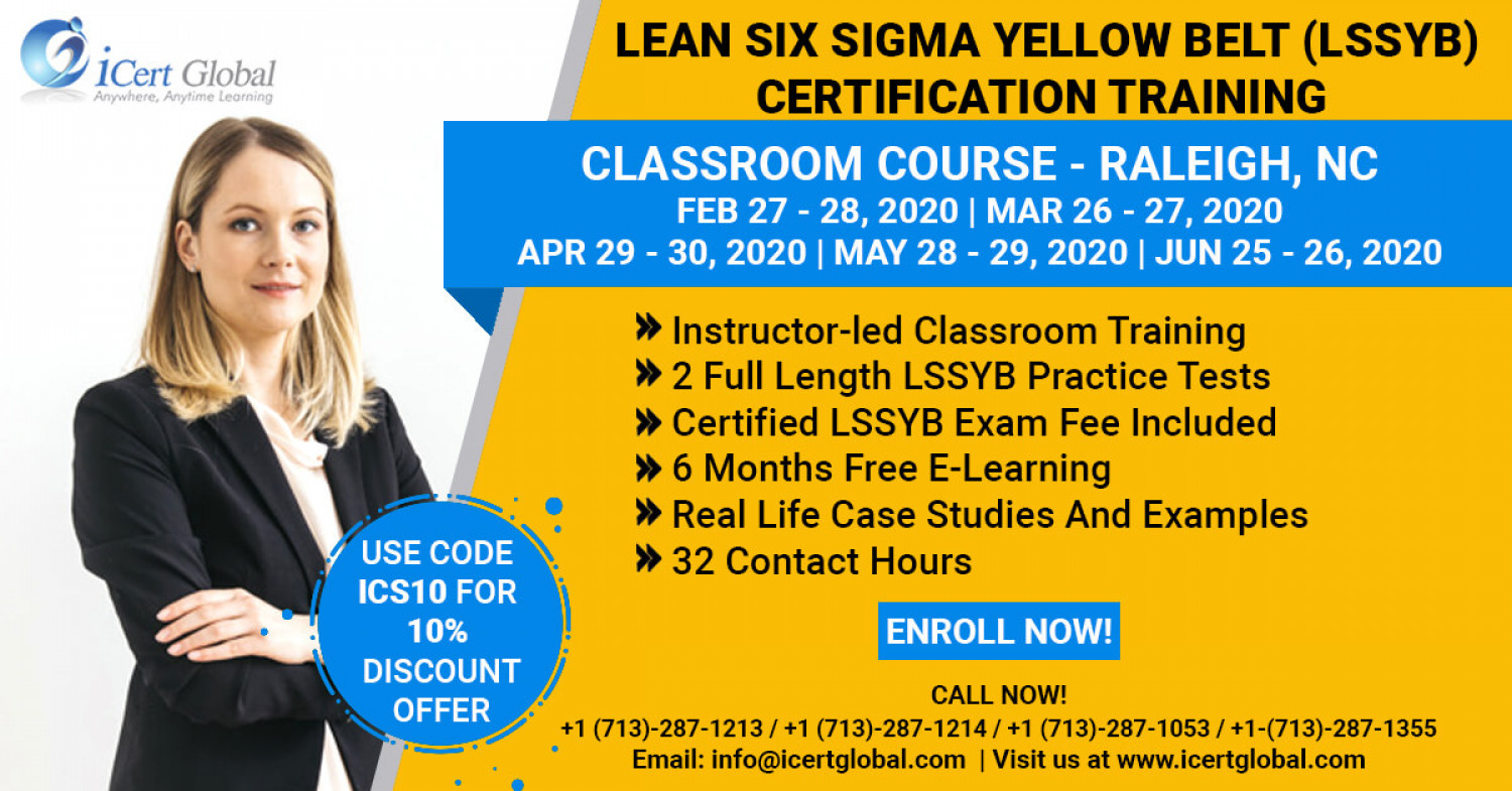 Lean Six Sigma Yellow Belt (LSSYB) Certification Training Raleigh, NC Infographic