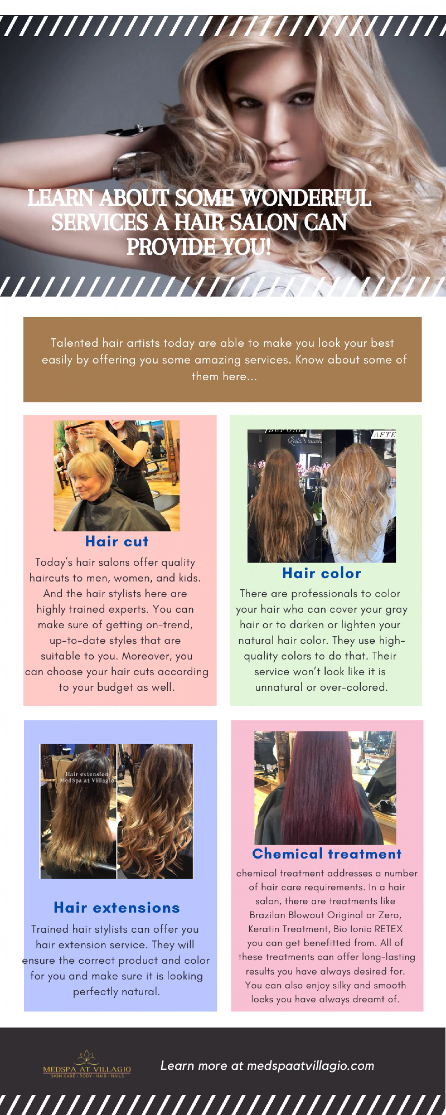 Learn About Some Wonderful Services A Hair Salon Can Provide You! Infographic