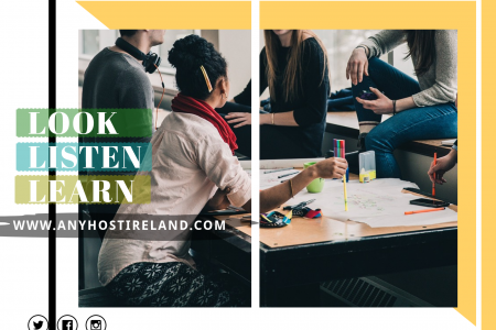 Learn English - Any Host Ireland Infographic