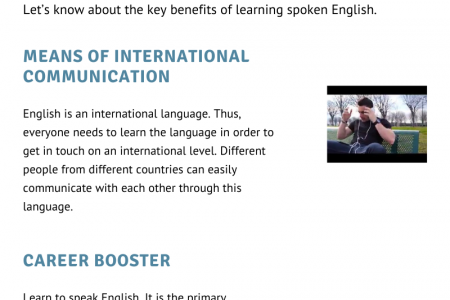 Learn to speak in English: Why Is It so Significant? Infographic