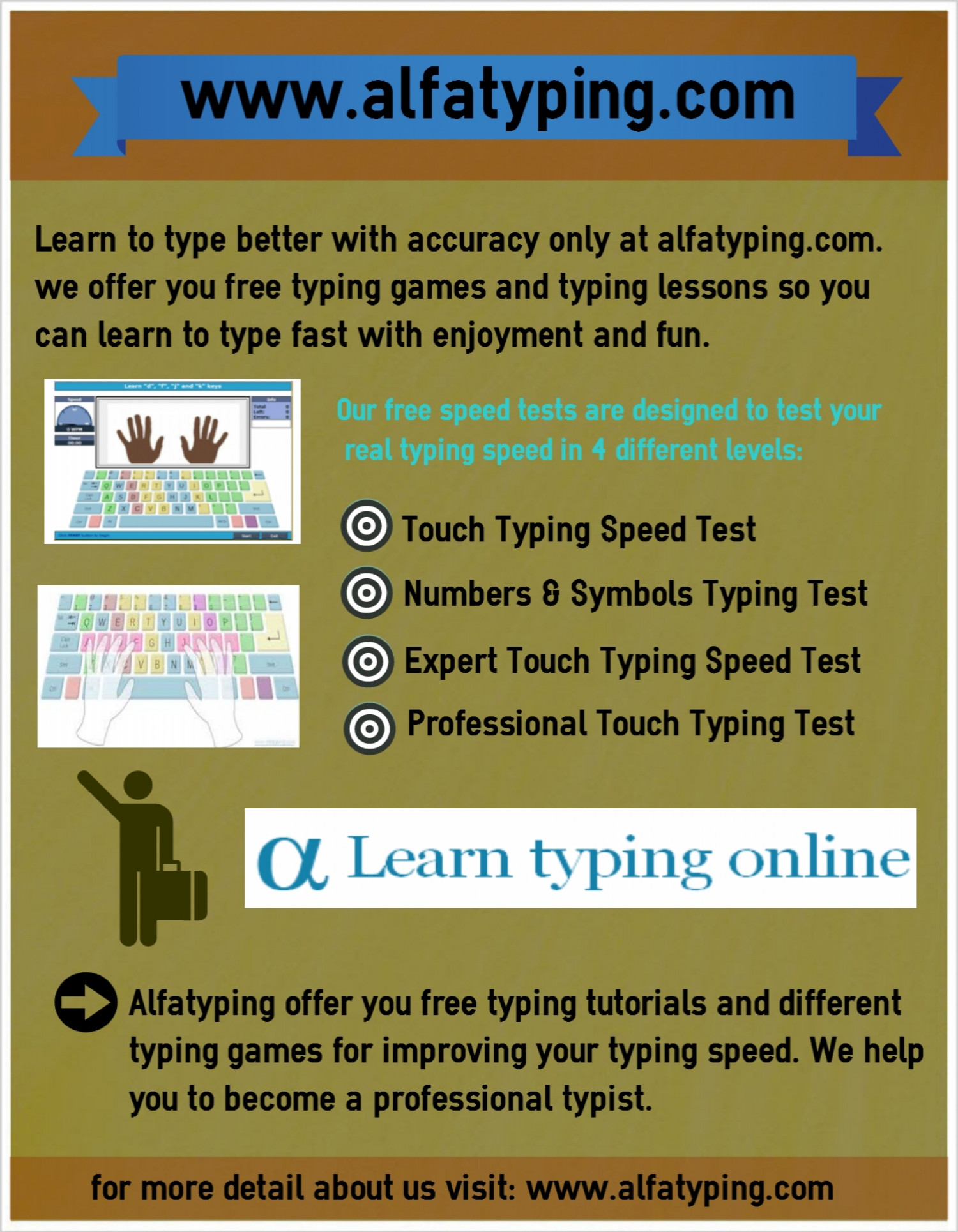 Worksheet Typeonline learn to type online and free typing test visual ly infographic