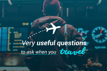 Learn useful questions to ask when traveling Infographic