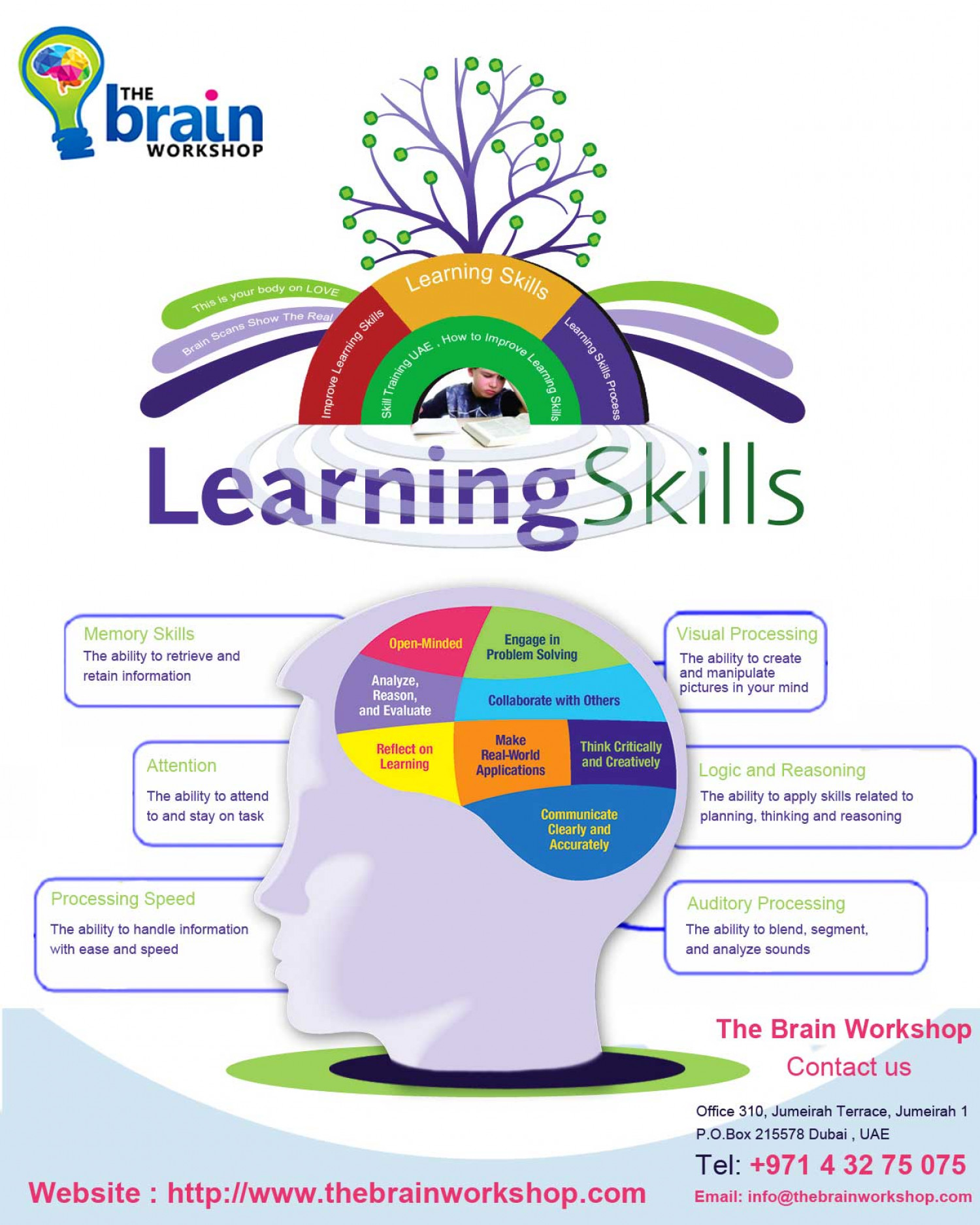 Learning Skills Process Infographic
