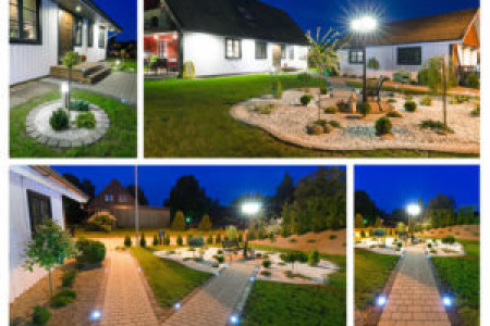 LED Outdoor Lighting Examples Infographic