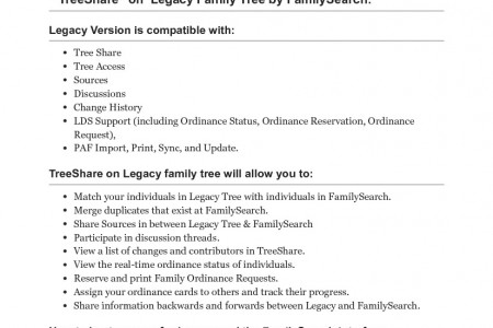 """Legacy """"Tree Share"""" by FamilySearch Infographic"""