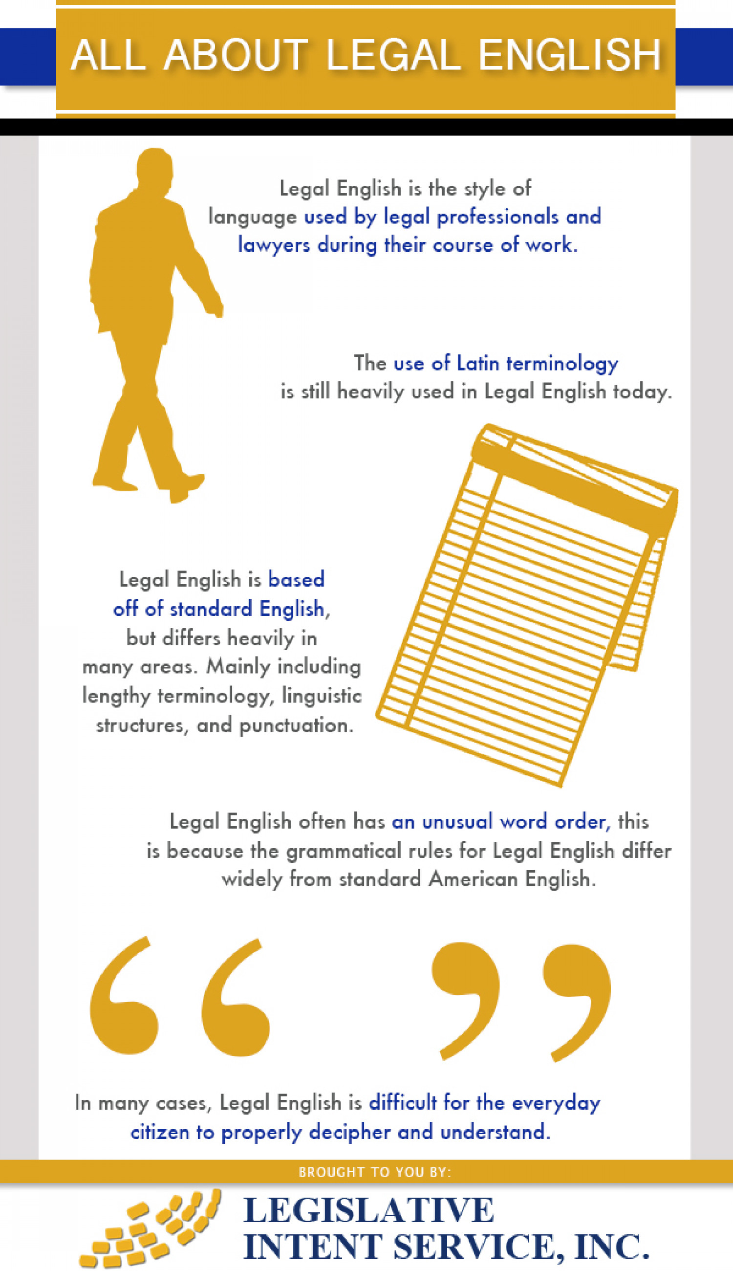 Legal English Infographic